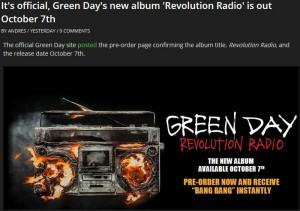Green Day Revolution Radio1